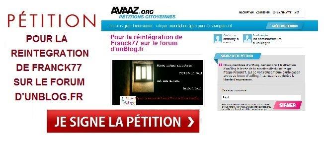 Pour le retour de Franck77 : 48ème jour de bannissement ... dans Au jour le jour franck-petition-avaaz